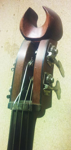 De kop van een bas van Jos Noorhoff.