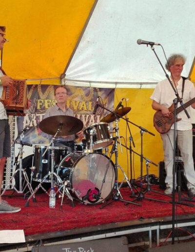 Het trio Pot, Baumgarten en van Astenrode in actie.