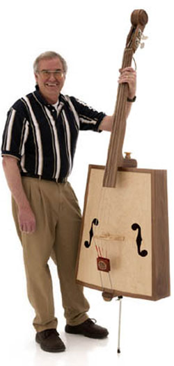 A double bass like a chest.