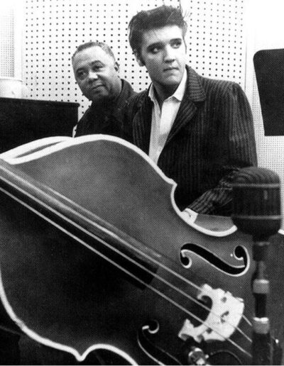 Elvis Presley and a double bass.