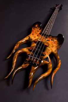 A Creepy bass guitar.