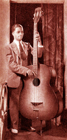 A double bass that loooks like an acoustic guitar.