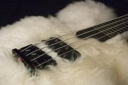 A very fluffy bass guitar.