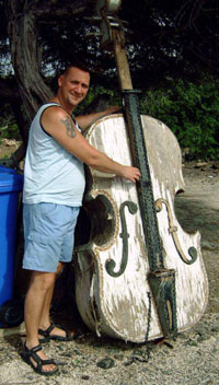 A double bass for in rhe garden.