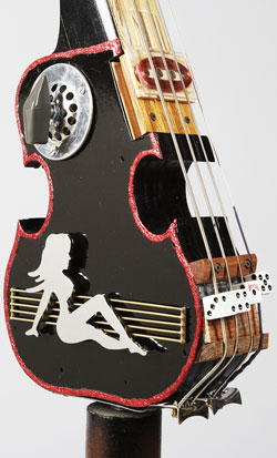A bass probably made out of leftovers.