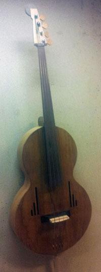 A Spanish double bass.