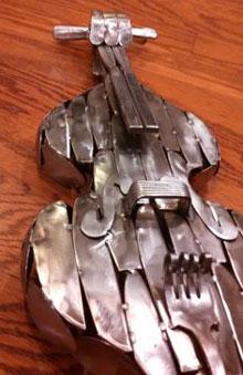 A tin double bass.