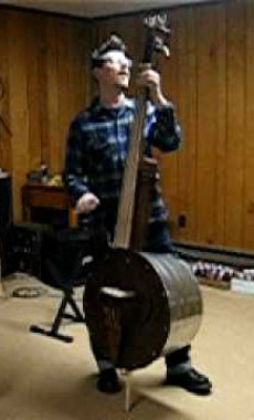 A double bass made out of a ton.