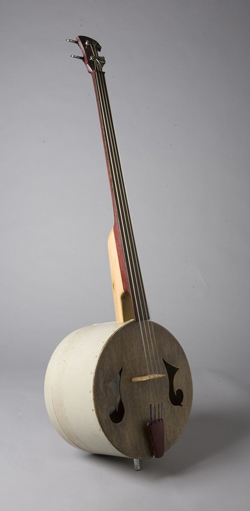 one of the special basses made of a tub
