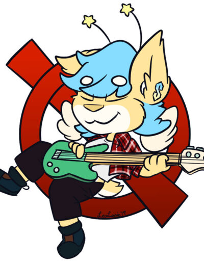 Rabbit bass guitar player