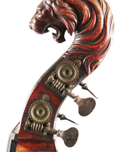 Contrabaskop leeuw