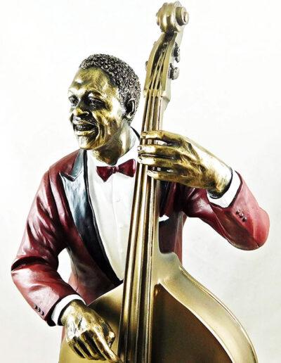 Statue of bassist